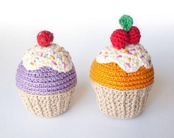 Individual crochet cupcakes