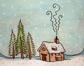 Lovely little home Christmas Card