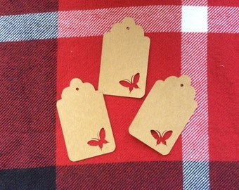 Die Cut Butterfly Tag