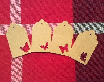 Die Cut Assorted Butterfly Tags