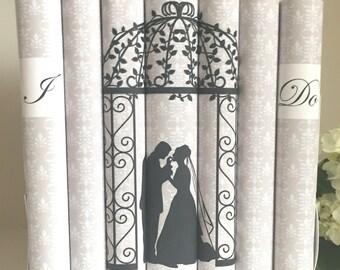 Wedding decor books  - Wedding prop books - Custom books for wedding - Personalized wedding gift - Wedding book decor - Wedding centerpiece