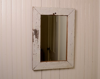 Distressed Barn Siding Framed Mirror