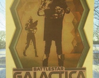 Battlestar Galactica vintage 1970s iron on decal for t shirt ,bag, jacket.