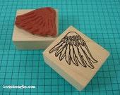 Cherub Wing Right Stamp / Invoke Arts Collage Rubber Stamps
