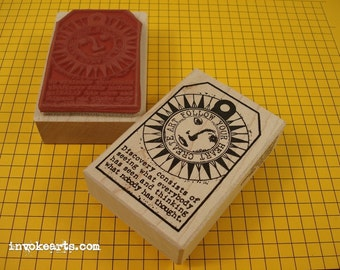 Discovery Tag Stamp / Invoke Arts Collage Rubber Stamps
