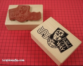 Artpost Collage Stamp / Postoid / Invoke Arts Collage Rubber Stamps