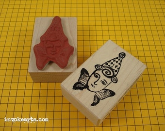 Angelina Gets Her Wings Small Stamp / Invoke Arts Collage Rubber Stamps