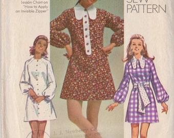 Simplicity 8920 Vintage 1970 Dress Sewing Pattern