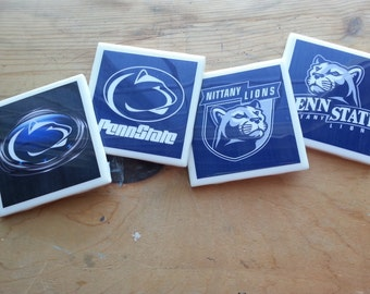 Set of 4 Penn State Coasters