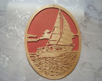 Sailboat scrollsaw picture