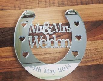 Personalised wedding horseshoe