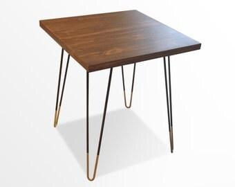 ON SALE Mid Century Modern, Mid Century Modern Side Table, Mid Century Modern Furniture, Hairpin legs