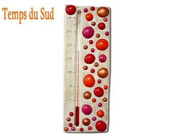 Thermom tre d coratif moderne chambre graphique pois - Thermometre exterieur decoratif ...