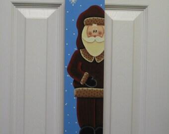 Hand-Painted Santa Slim Sled