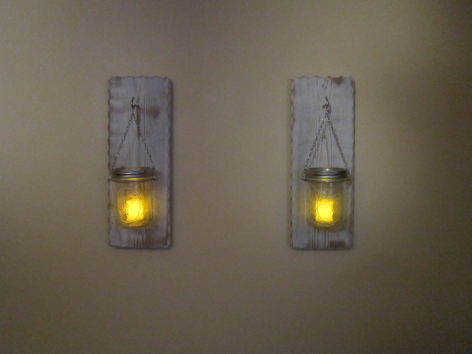 Rustic Candle Wall Sconces Candle Holders by BriarRidgeCreation