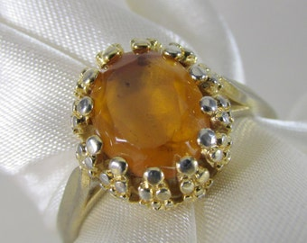 Antique Style Citrine Vintage Ring