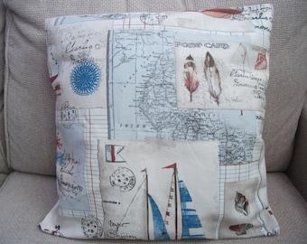 """Handmade Cushion/ Pillow 16""""x16"""" - Sailing"""