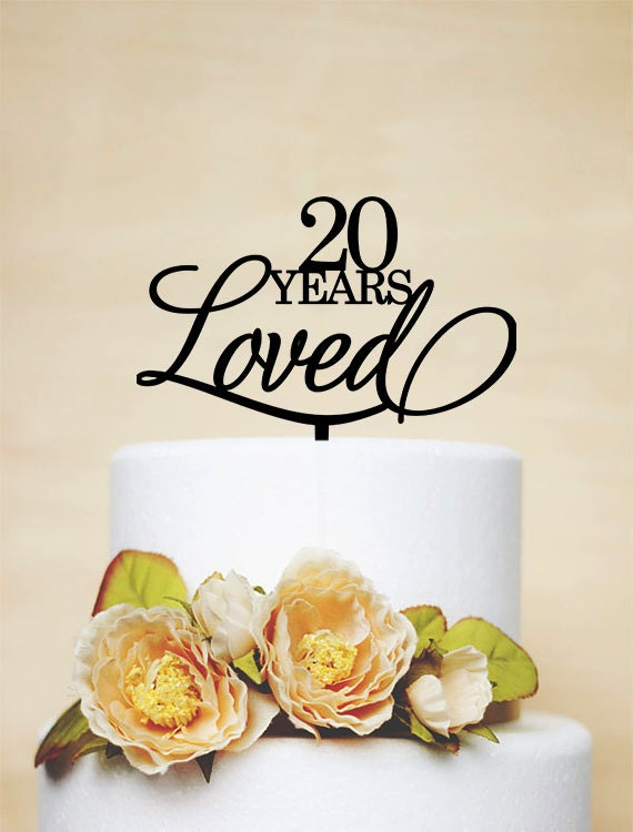 20th birthday cake topper 20 years love cake. Black Bedroom Furniture Sets. Home Design Ideas
