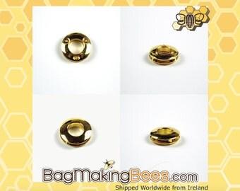 1 Inch Gold Round Grommet Eyelet [Set Of 4]