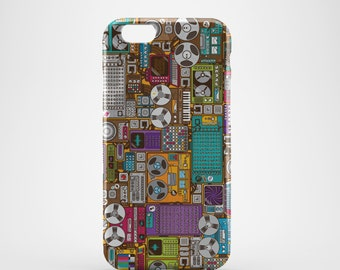 Retro Music Equipment Phone case,  iPhone X Case, iPhone 8 case,  iPhone 6s,  iPhone 7 Plus, IPhone SE, Galaxy S8 case, Phone cover, SS102a