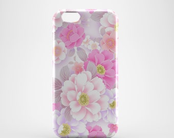 Pink Flowers Floral Phone case,  iPhone X Case, iPhone 8 case,  iPhone 6s,  iPhone 7 Plus, IPhone SE, Galaxy S8 case, Phone cover, SS129a