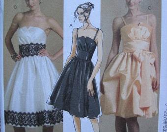 UNCUT Misses Dress and Sash - Size 4, 6, 8, 10, 12 - McCalls Pattern M5382