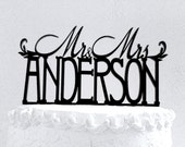 Mr and Mrs Anderson Wedding Cake Topper