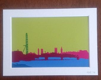 London city landscape digital print