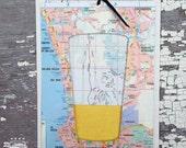 West Coast IPA – 3D Slide Card; Beer Card, Craft Beer Lover, Beer Art, Greeting Card, 3D Card, Unique Card, Beer Glass, IPA, California, Map