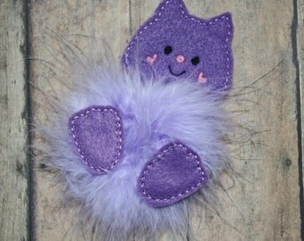 FELTIE SALE!   Kitty Marabou Puff Feltie Embroidery Machine Design for the 4x4 hoop
