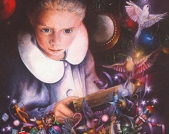 Christmas Card, Holiday Card, Greeted Christmas Card, Illuminated