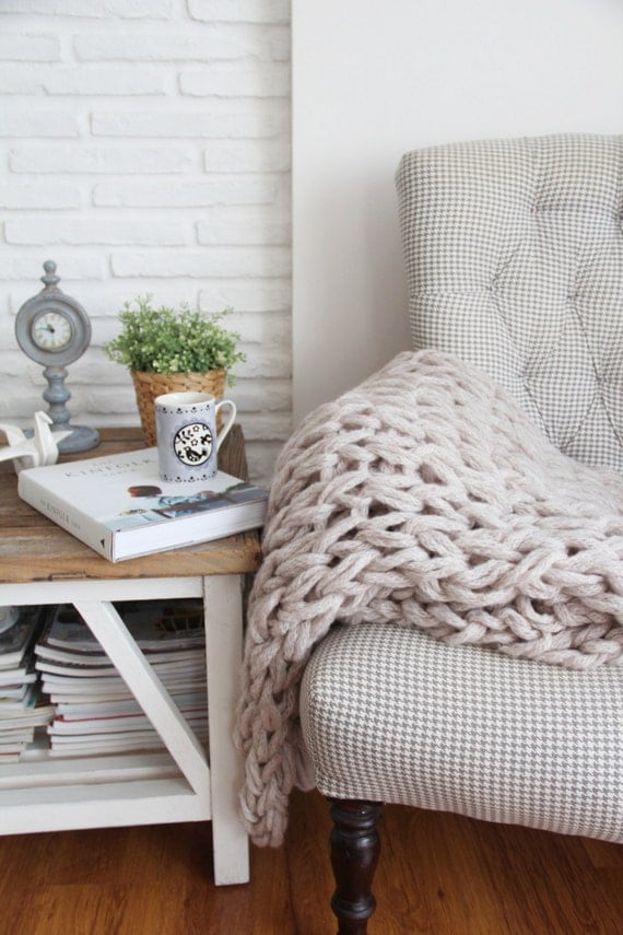 warm grey cozy blanket