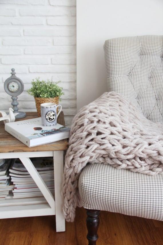 warm grey cozy blanket