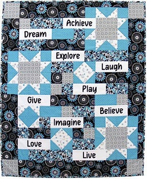Words to Live By Fabric Panel, Live Love Laugh Dream Imagine ... : quilting fabric with words - Adamdwight.com