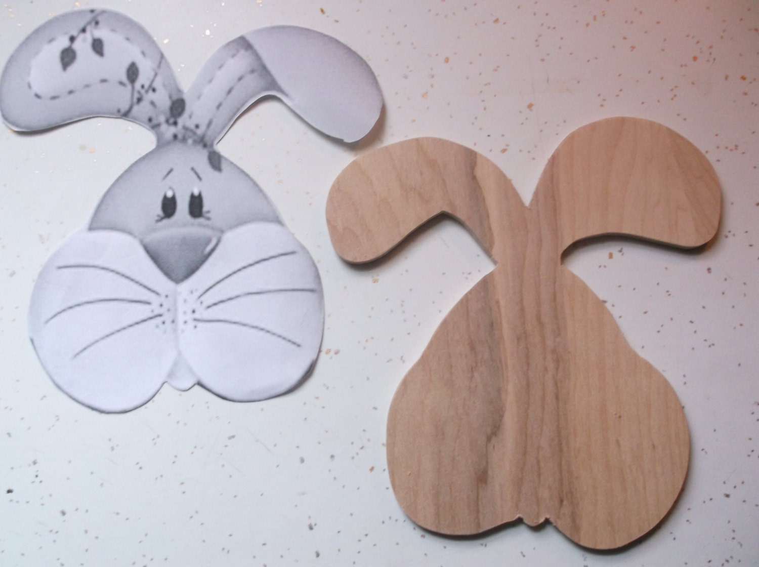 Wooden bunny wood easter rabbit wood bunnies easter for Craft supplies wooden shapes