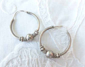 Sterling hoops from Bali