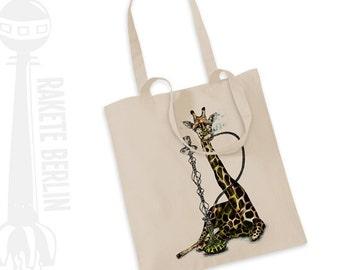 Tote Bag  'Giraffe with hookah'