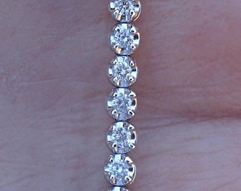 1.5 Carat Diamond Bracelet Tennis Bracelet - 14K White Gold SI-1/E