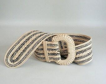 Women Wide Braided Cord Belt