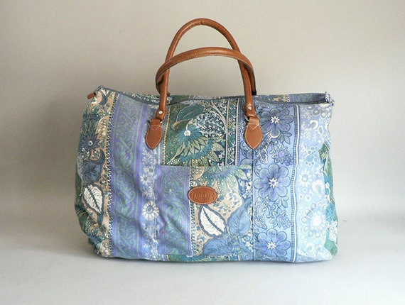 1980s Large Floral Duffel Bag By Gitano