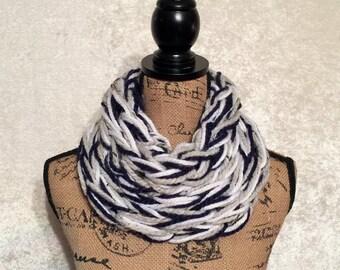 SALE-Dallas Cowboy Color Super Chunky Knit Cowl