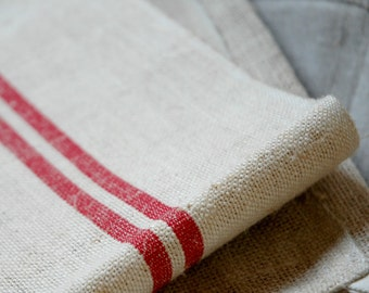 Vintage French hemp tea towel