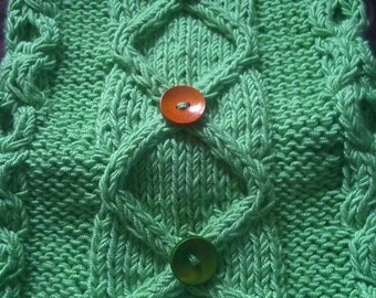 Hand knitted scarf lime green Ladies / Women's scarf