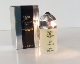 "Perfume Mini men's  ""Pasha"" by Cartier. 5 ml. Made in France."