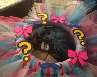 Boy/Girl Pink and Blue Gender Reveal Wreath
