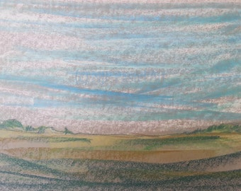 Ridgeway - Limited Edition Prints & Gifts from abstract landscape pastel original