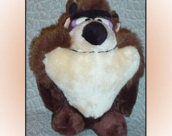 Tasmanian Devil 1971 Looney Tunes Plush Taz Stuffed Animal