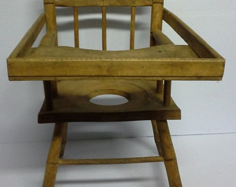 Vintage wooden chair baby
