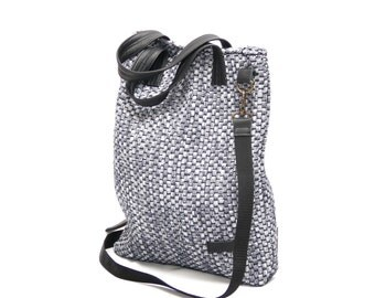 Handmade bags woven from textile NRS002 Grey