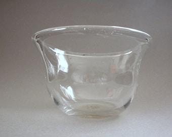 Clear Blown Glass Bowl